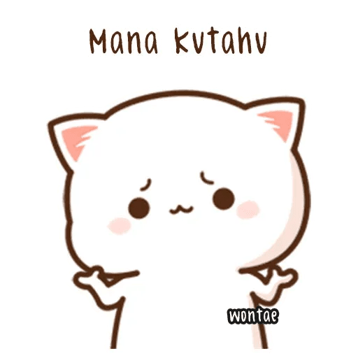 mochi mochi peach cat - Sticker 24