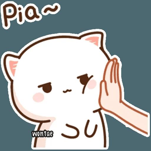 mochi mochi peach cat - Sticker 10