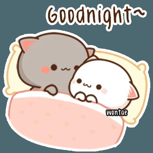 mochi mochi peach cat - Sticker 16