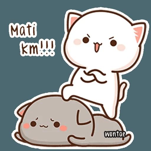 mochi mochi peach cat - Sticker 21