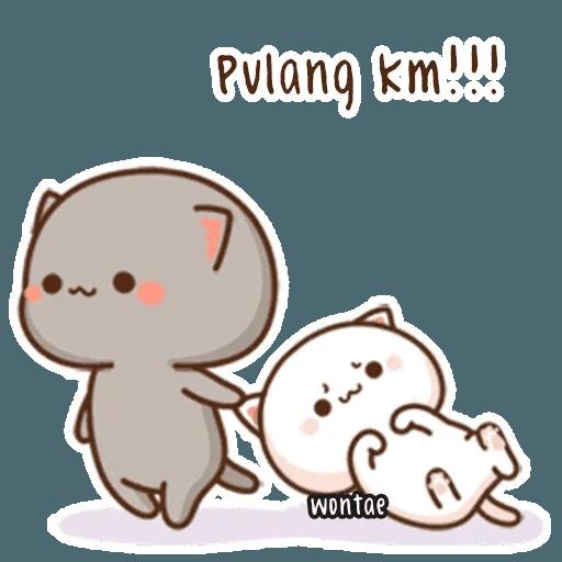 mochi mochi peach cat - Sticker 23
