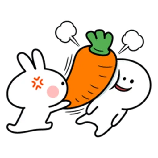 Spoiled rabbit from tg - Sticker 18