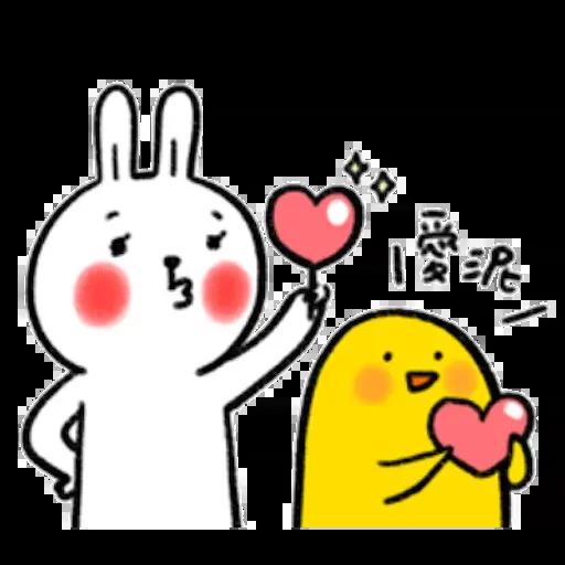 Rabbit and duck - Sticker 3