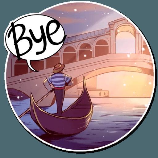 Venetian Gondolier - Sticker 25
