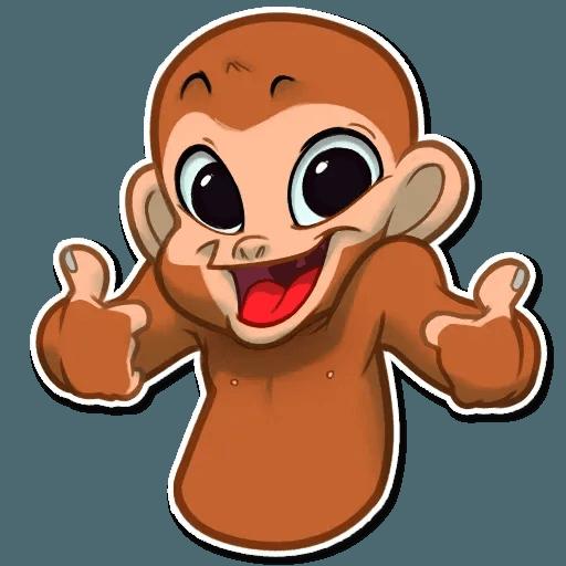 Monkey - Tray Sticker