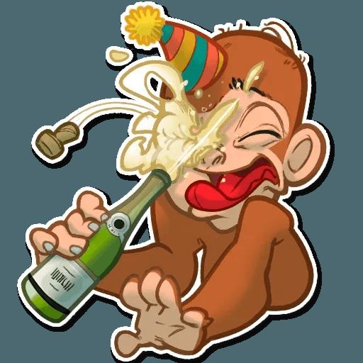 Monkey - Sticker 2
