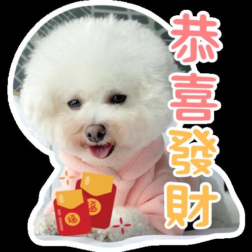 Kira Chan CNY 小新粒子賀年貼紙 - Tray Sticker