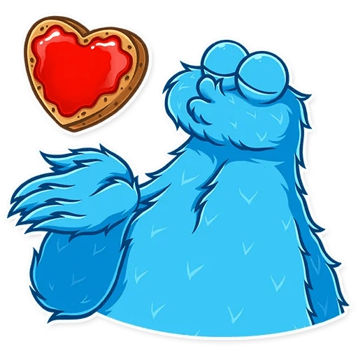 Cookie Monster - Sticker 2