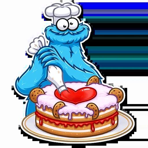 Cookie Monster - Sticker 7