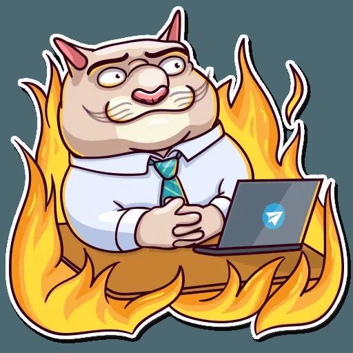 Big Boss Cat - Sticker 21