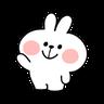 Rabbit Doodle 02 - Tray Sticker