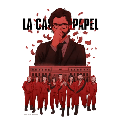 La casa de papel - Sticker 3