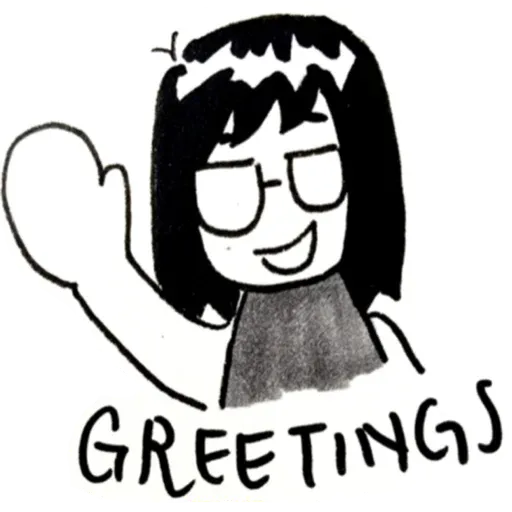 rachel pang comics - Tray Sticker