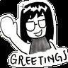 rachel pang comics - Tray Sticker