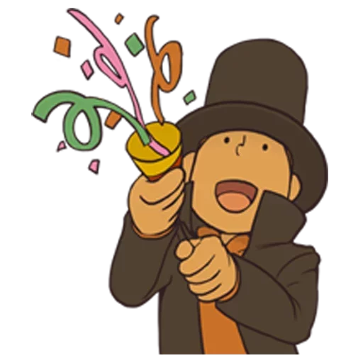 Professor Layton 1 - Sticker 3