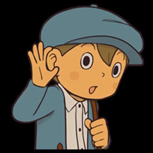 Professor Layton 1 - Sticker 14