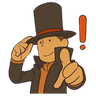 Professor Layton 1 - Tray Sticker
