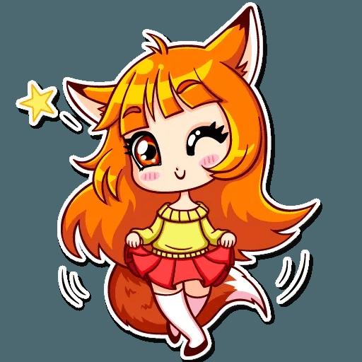 Fox Girl - Sticker 8
