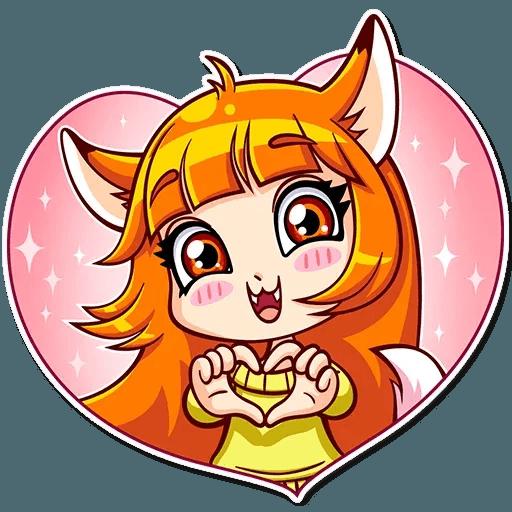 Fox Girl - Tray Sticker