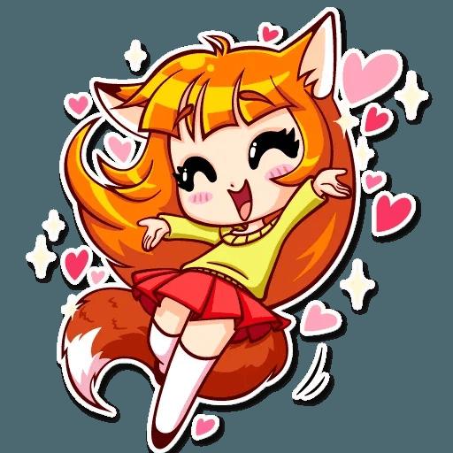 Fox Girl - Sticker 3