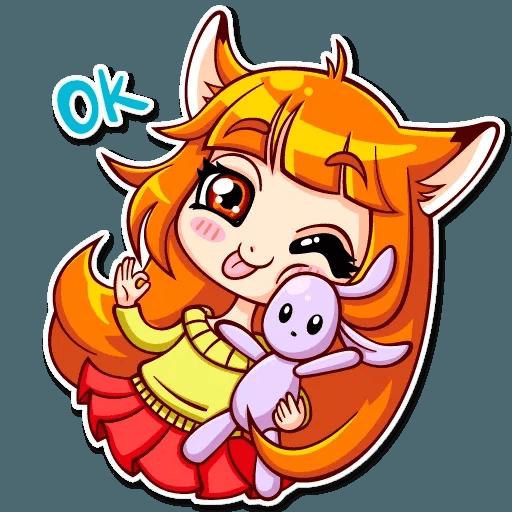 Fox Girl - Sticker 19