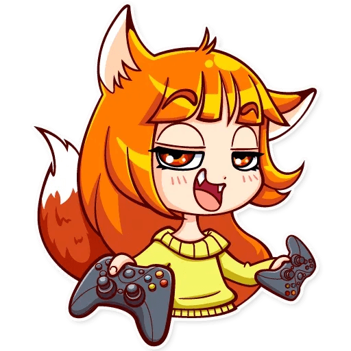 Fox Girl - Sticker 30