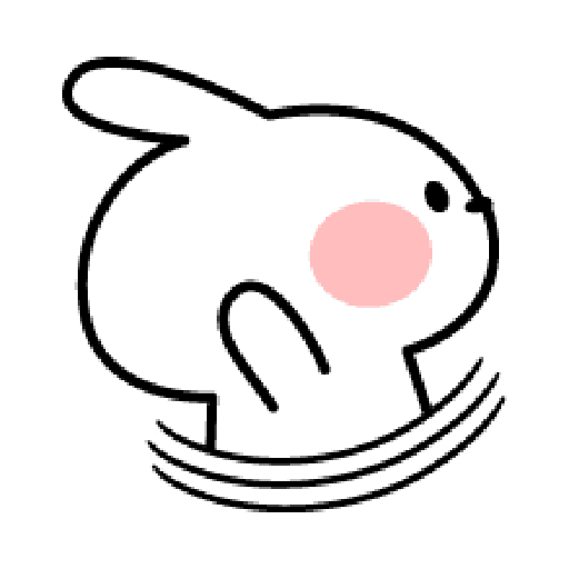 Rabbit Smile Emoji - Sticker 12
