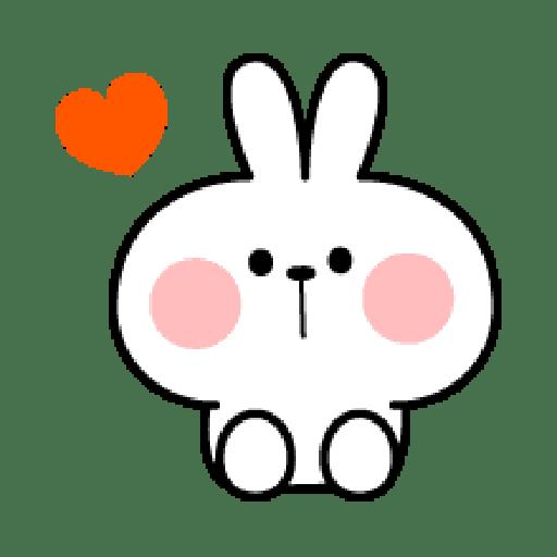 Rabbit Smile Emoji - Sticker 18