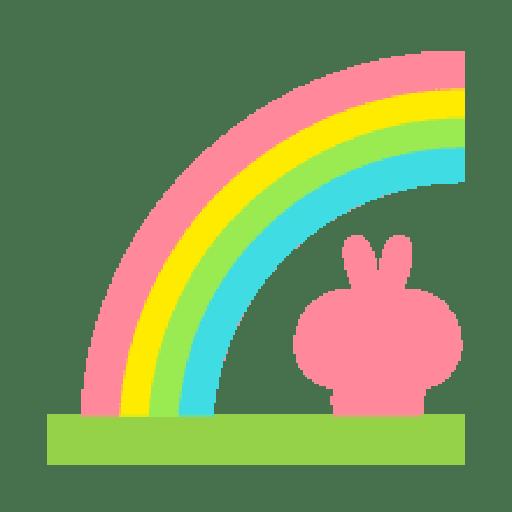 Rabbit Smile Emoji - Sticker 22