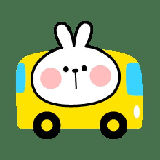 Rabbit Smile Emoji - Sticker 25