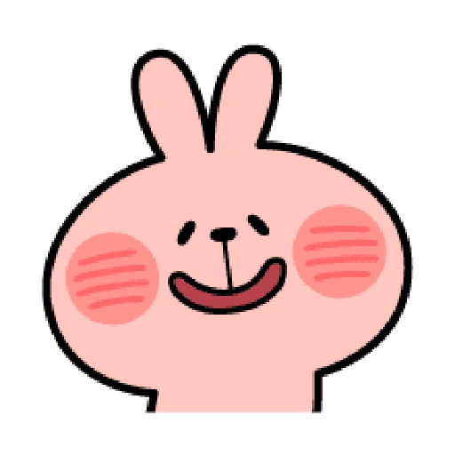 Rabbit Smile Emoji - Sticker 16