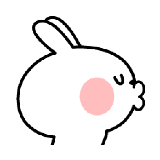 Rabbit Smile Emoji - Sticker 11