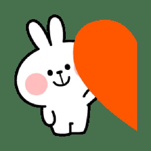 Rabbit Smile Emoji - Sticker 23