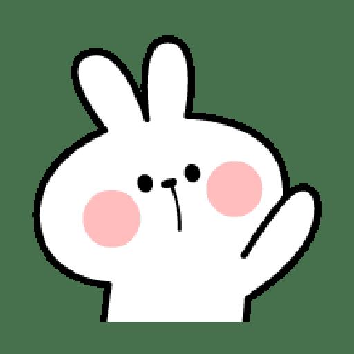 Rabbit Smile Emoji - Sticker 1