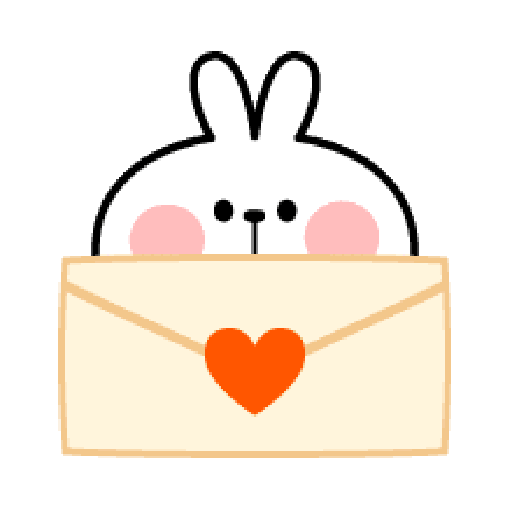 Rabbit Smile Emoji - Sticker 17