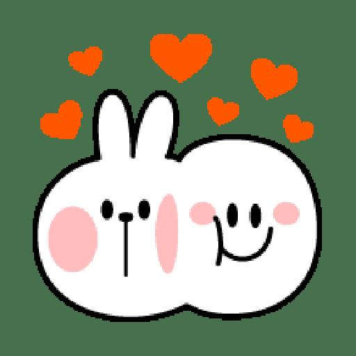 Rabbit Smile Emoji - Sticker 3