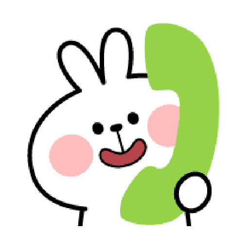 Rabbit Smile Emoji - Sticker 10