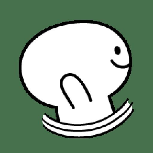 Rabbit Smile Emoji - Sticker 26
