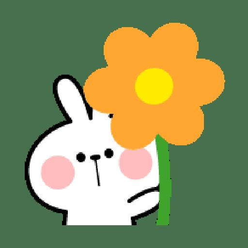 Rabbit Smile Emoji - Sticker 28