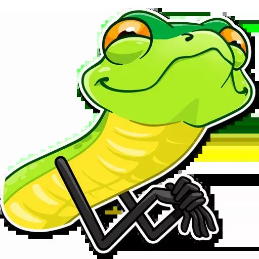 Sneaky Snake - Sticker 3