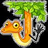 Sneaky Snake - Tray Sticker