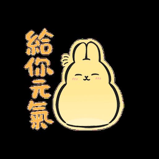 ㄇㄚˊ幾兔6 Thanks, 加油 - Sticker 2