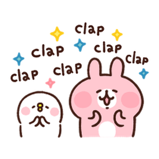 Kanahei Piske & Usagi Celebrate - Sticker 2