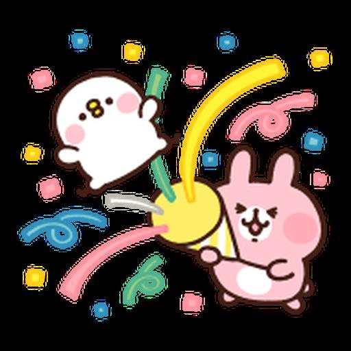 Kanahei Piske & Usagi Celebrate - Sticker 20