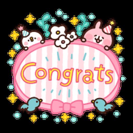 Kanahei Piske & Usagi Celebrate - Sticker 8