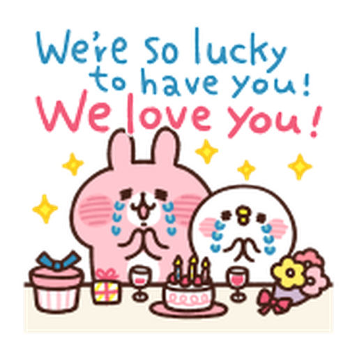 Kanahei Piske & Usagi Celebrate - Sticker 6