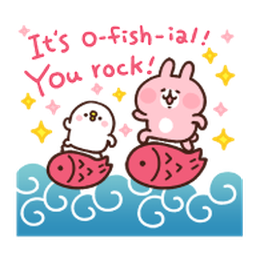 Kanahei Piske & Usagi Celebrate - Sticker 14