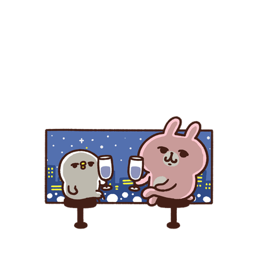 Kanahei Piske & Usagi Celebrate - Sticker 28