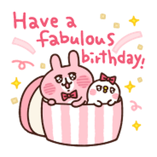 Kanahei Piske & Usagi Celebrate - Sticker 24