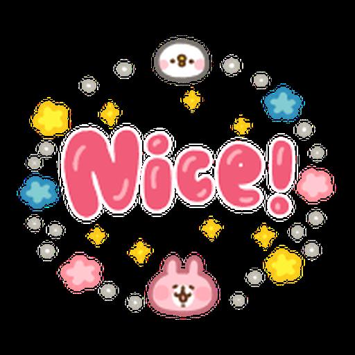 Kanahei Piske & Usagi Celebrate - Sticker 12